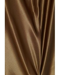 Ralph Lauren Collection | Metallic Davidson silk-satin top | Lyst