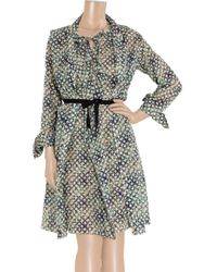 Roland Mouret   Gray Kail Two-piece Cotton-blend Voile Dress   Lyst