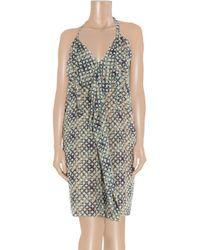 Roland Mouret Gray Kail Two-piece Cotton-blend Voile Dress