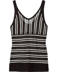 T By Alexander Wang Black Striped Tank