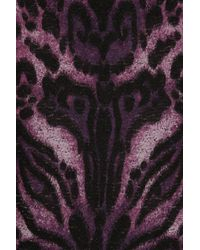 Temperley London Purple Animal-Print Merino Wool-Blend Dress