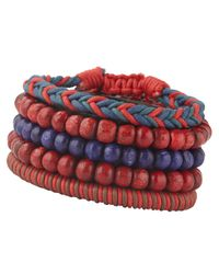 ALDO - Red Capriola Beaded and Braided Bracelets for Men - Lyst