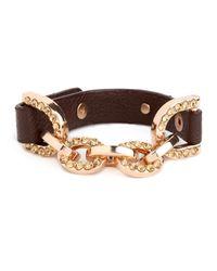 BaubleBar - Brown Gold Horsebit Bangle - Lyst