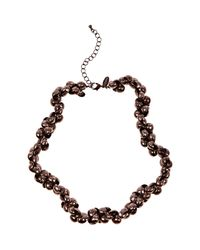 Coast   Brown Rose Necklace   Lyst