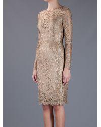 Dolce & Gabbana   Gold Lace Dress   Lyst