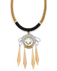 Holst + Lee - Metallic Bird Of Paradise Necklace - Lyst