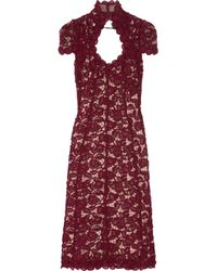 Marc Jacobs | Brown Rose Guipure Lace Dress | Lyst