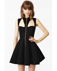 nasty gal take me out dress in black  lyst