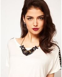 ASOS | Blue Midnight Stud Necklace | Lyst