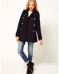 ASOS Collection - Yellow Asos Reefer Military Coat - Lyst
