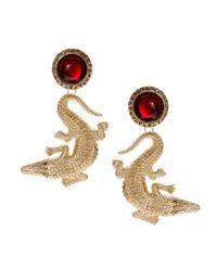 ASOS Metallic Crocodile Earrings
