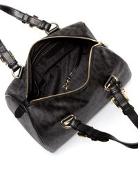 Michael Kors Black Julie Textured-leather Tote