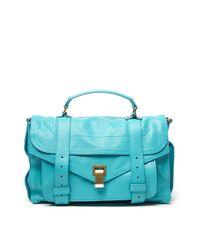 Proenza Schouler Blue Ps1 Medium Shoulder Bag