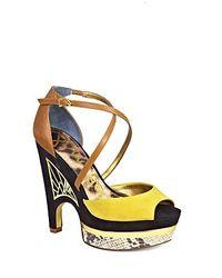 Sam Edelman Multicolor Peep Toe Platform Sandals Tegan Cut Out Wedge