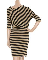 Vivienne Westwood Anglomania - Black Arianna Striped Stretch-linen Dress - Lyst