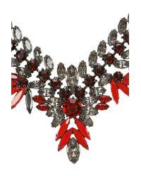 Elizabeth Cole - Black Hematiteplated Swarovski Crystal Necklace - Lyst
