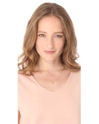 Shashi Metallic Pink Pearl Necklace