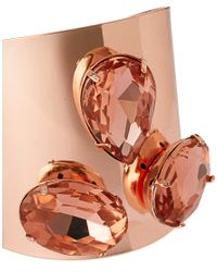 ASOS - Pink Three Stone Colour Plate Cuff - Lyst