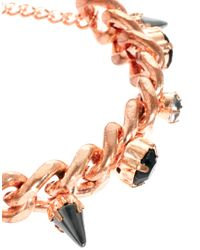 ASOS - Metallic Spike Stone Bracelet - Lyst