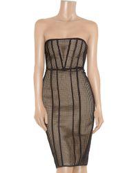 Hakaan Black Ewe Mesh and Stretch-satin Dress