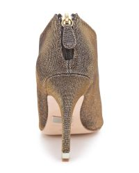 Badgley Mischka Gray Mysti Peep Toe Evening Booties