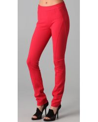Donna Karan New York | Red Back Zip Pants | Lyst