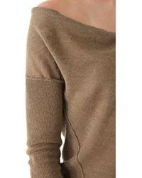 Donna Karan New York | Khaki Long Sleeve Sweater | Lyst