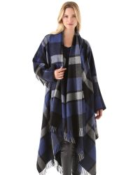 Donna Karan | Blue Blanket Coat | Lyst