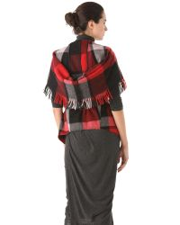 Donna Karan New York | Red Fringe Vest | Lyst