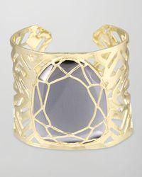 Kendra Scott | Metallic Geneva Caged Cuff Slate | Lyst