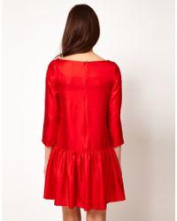 Current/Elliott Red Drop Waist Dress