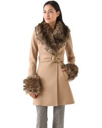 Rachel Zoe Natural Trish Long Pea Coat