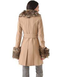 Rachel Zoe Natural Trish Long Pea Coat