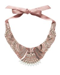 Temperley London - Pink Deco Mirror Necklace - Lyst