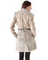 Thakoon | Multicolor Shearling Combo Coat | Lyst
