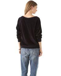 Wildfox   Black Mary Velour Sweatshirt   Lyst