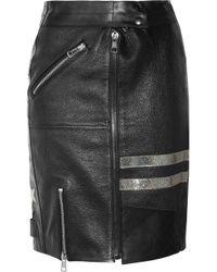 Acne | Black Franca Leather Skirt | Lyst