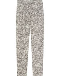Acne | Gray Grey Leather Close Pants | Lyst