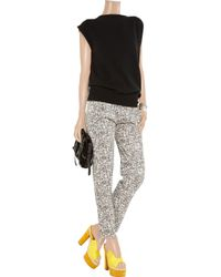Acne Studios - Gray Grey Leather Close Pants - Lyst
