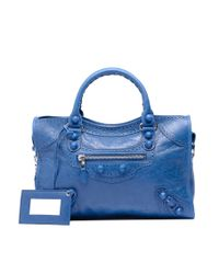 Balenciaga - Blue Balenciaga Giant City Brogues Cassis - Lyst