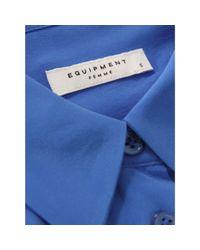 Equipment Adriana Electric Blue Shirt