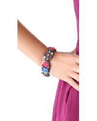 Erickson Beamon Multicolor Modern Moghul Bracelet