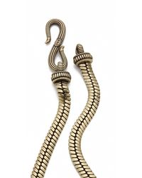 Giles & Brother - Metallic Tusk Necklace - Lyst