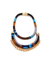 Holst + Lee - Black Man On Wire Necklace - Lyst
