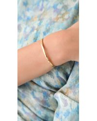 Jennifer Zeuner | Metallic Skinny Diamond Bangle - Gold | Lyst