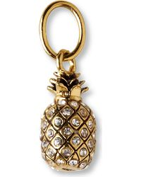 Juicy Couture | Metallic Pineapple Charm | Lyst