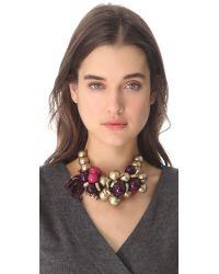 Marc By Marc Jacobs - Purple Bolts Galore Bubble Necklace - Lyst