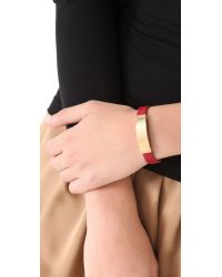 Marc By Marc Jacobs - Red Standard Supply Leather Id Bracelet - Lyst