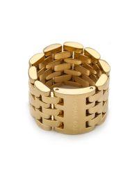 Michael Kors | Metallic Watch Link Ring | Lyst