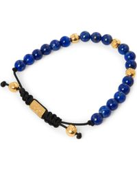 Nialaya - Gold Blue Lapis and Silver Bracelet - Lyst
